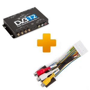 Цифровий тюнер DVB T2 та кабель під'єднання для моніторів Toyota Citroen і Peugeot X Touch X Nav