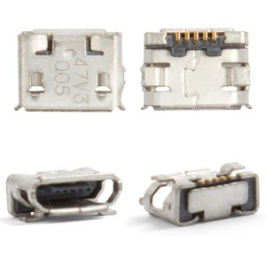 Charge Connector Nokia 6500c, 7900, 8800 Arte; Sony Ericsson W100, X10 mini, (5 pin, micro USB type-B)
