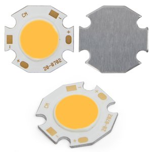 COB LED Chip 7 W (warm white, 650 lm, 20 mm, 300 mA, 21-23 V)