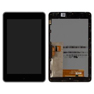 LCD compatible with Asus Nexus 7 google, (black, with touchscreen, with frame, (ME370T))