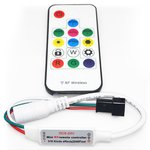LED Controller with RF Remote Control SP103E (RGB, WS2801, WS2811, WS2812, WS2813 5-24 V)