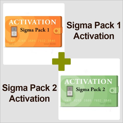 Activaciónes Pack 1 y Pack 2 para Sigma