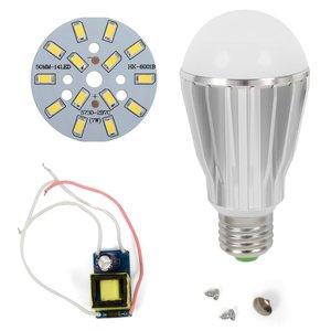 Комплект для сборки светодиодной лампы SQ-Q17 5730 7 Вт (холодный белый, E27), диммируемый
