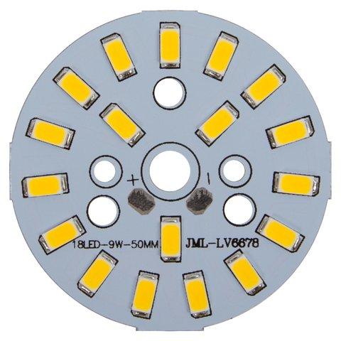 Плата зі світлодіодами 9 Вт теплий білий, 1080 лм, 50 мм