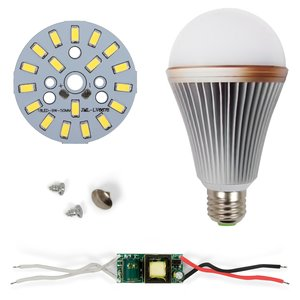 Комплект для сборки LED-лампы SQ-Q24 5730 E27 9 Вт – холодный белый