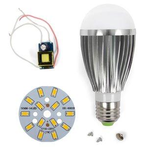 Комплект для сборки светодиодной лампы SQ-Q03 7 Вт (теплый белый, E27), диммируемый